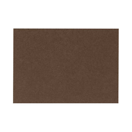 """LUX Flat Cards, A1, 3 1/2"""" x 4 7/8"""", Chocolate Brown, Pack Of 500"""