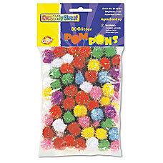 Chenille Kraft Creativity Street Glitter Pompons