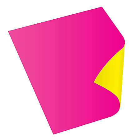 "Royal Brites Two Cool Neon Colors Foam Board, 22"" x 28"", Pink/Canary, Case Of 25"