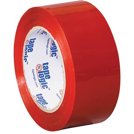 """Tape Logic® Carton-Sealing Tape, 3"""" Core, 2"""" x 110 Yd, Red, Pack Of 6"""