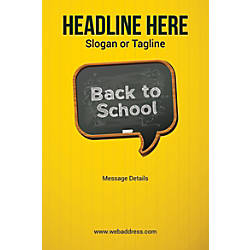 Adhesive Sign Back To School Vertical