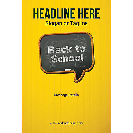 Adhesive Sign, Back To School, Vertical