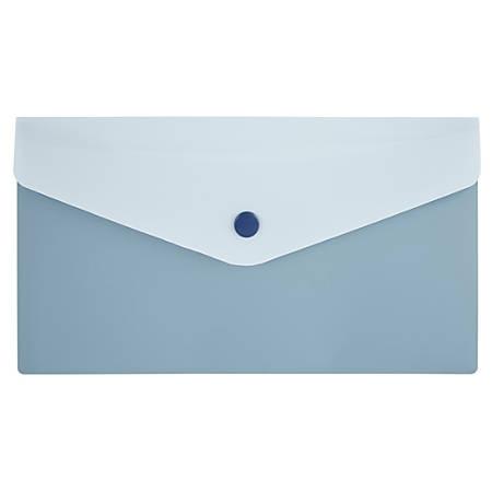 "Office Depot® Poly Envelope, 5-1/2"" x 8-1/2"", Light Blue/Dark Blue"
