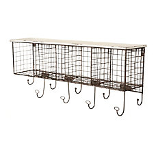 Linon Julia Metal Wall Shelf 4