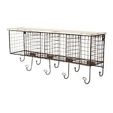 Linon Julia Metal Wall Shelf 4