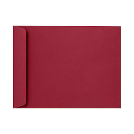 "LUX Open-End Envelopes With Peel & Press Closure, #9 1/2, 9"" x 12"", Garnet Red, Pack Of 50"