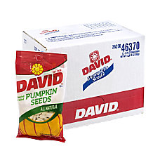 David Pumpkin Seeds Bags 375 Oz