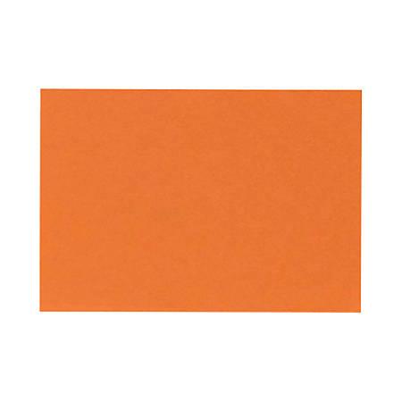 "LUX Mini Flat Cards, #17, 2 9/16"" x 3 9/16"", Mandarin Orange, Pack Of 50"