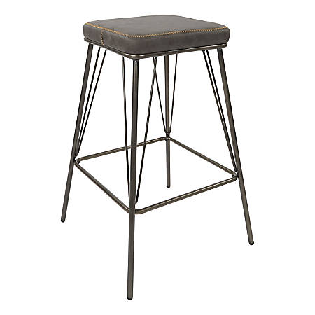 Strange Ave Six Mayson 26H Polyester Counter Stools Charcoal Gunmetal Set Of 2 Stools Item 7653783 Gmtry Best Dining Table And Chair Ideas Images Gmtryco