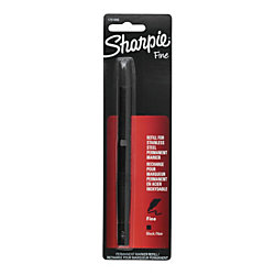 Sharpie® Stainless Steel Fine Point Permanent Marker Refill, Black