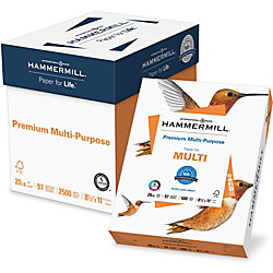 """Hammermill® Smooth Premium Copy And Multi-Use Paper, Letter Size (8 1/2"""" x 11""""), 97 (U.S.) Brightness, 20 Lb, Ream Of 2,500 Sheets"""