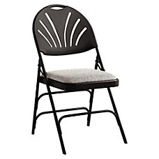 Samsonite XL Fanback Folding Chairs Fabric