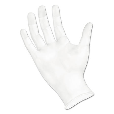 Boardwalk Disposable Powder-Free Vinyl Exam Gloves, Medium, Clear, Box of 100 Gloves