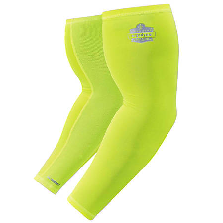 Ergodyne Chill-Its® 6690 Cooling Arm Sleeve, Large, Lime