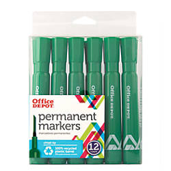 Office Depot Brand Permanent Markers Chisel