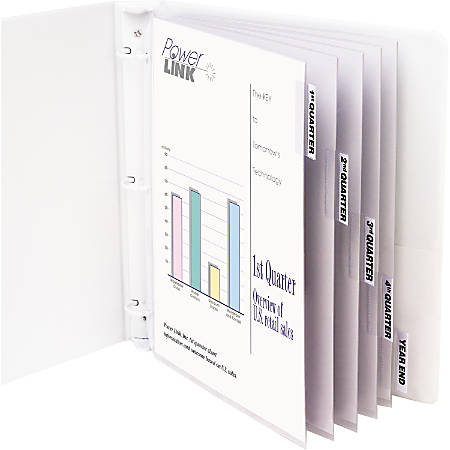 """C-Line® Top-Loading Sheet Protectors With Tab Inserts, 8 1/2"""" x 11"""", 5-Tab, Clear"""