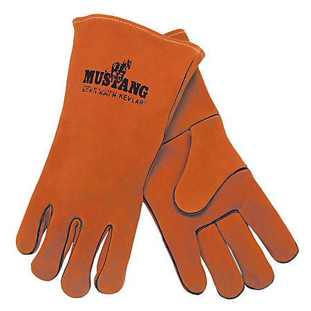 Premium Quality Welder's Gloves, Select Side Leather, X-Large, Russet