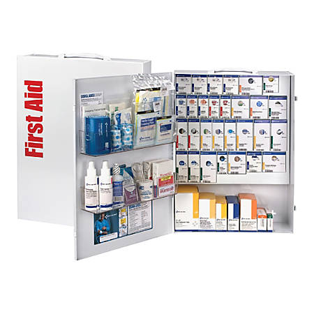 """First Aid Only XL SmartCompliance First Aid Cabinet, 17""""H x 5 3/4""""W x 22 1/2""""D, White"""