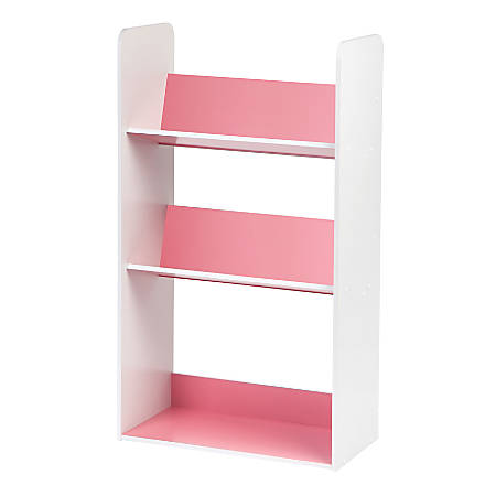 IRIS 2-Tier Storage Shelf With Footboard, Pink/White