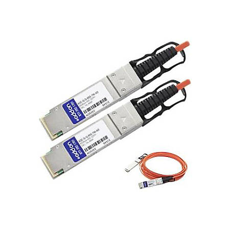 AddOn Arista Networks AOC-Q-Q-40G-7M Compatible TAA Compliant 40GBase-AOC QSFP+ to QSFP+ Direct Attach Cable (850nm, MMF, 7m)