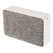 Ativa Fabric Covered Wireless Speaker GrayWhite