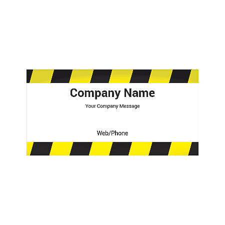 Magnetic Sign, Striped Bars, Horizontal
