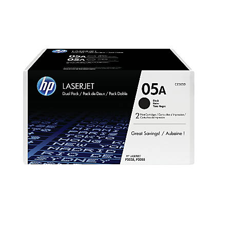 HP 05A Black Original Toner Cartridges, Pack Of 2
