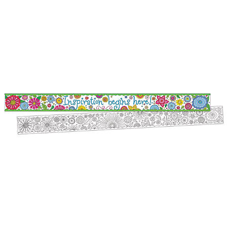 "Barker Creek Double-Sided Border Strips, 3"" x 35"", Color Me In My Garden, Set Of 24"