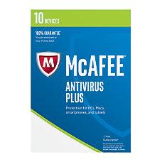 McAfee Antivirus Plus 2017 For 10