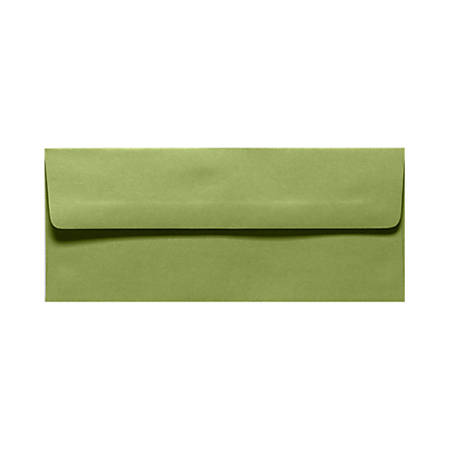 "LUX Envelopes With Peel & Press Closure, #10, 4 1/8"" x 9 1/2"", Avocado Green, Pack Of 250"