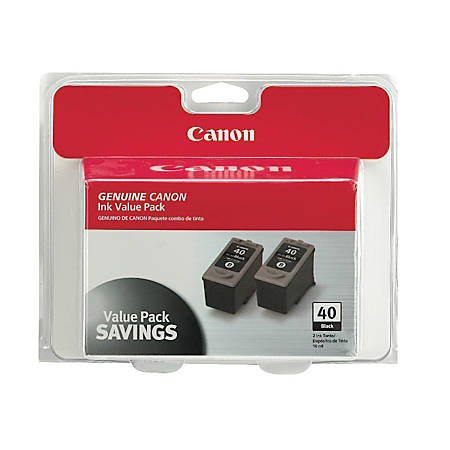 Canon PG-40 ChromaLife 100 Black Ink Cartridges (0615B013), Pack Of 2