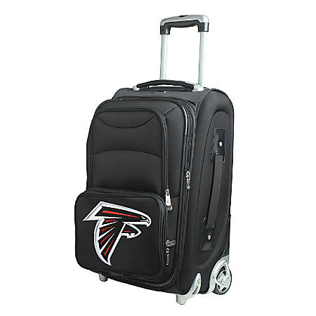 "Denco Nylon Expandable Upright Rolling Carry-On Luggage, 21""H x 13""W x 9""D, Atlanta Falcons, Black"