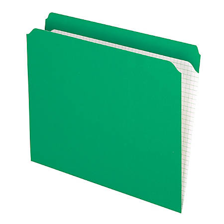 Pendaflex® Reinforced-Top File Folders, Straight Cut Tab, Letter Size, Bright Green, Box Of 100 Folders