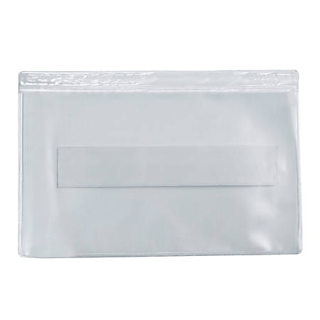 "Office Depot® Brand Super-Scan Press-On Vinyl Envelopes, 3-1/2"" x 2"", Clear, Pack Of 50 Envelopes"