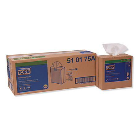 "Tork Cleaning Cloths, 8-1/2"" x 16-1/8"", White, 500 Cloths Per Box, Carton Of 5 Boxes"