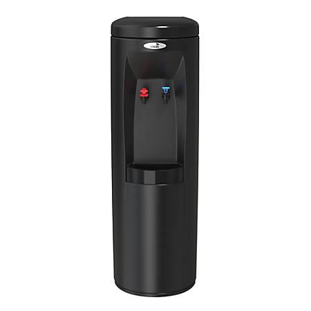 Oasis Atlantis Hot/Cold Plumbed Floorstand Water Cooler, Black