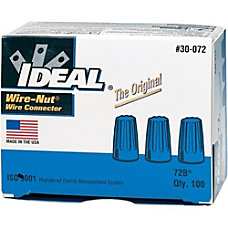 IDEAL Wire Connector Blue 100 Pack