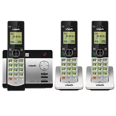 VTech® CS5129-3 DECT 6.0 Expandable Cordless Phone With Digital Answering System