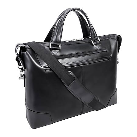 "McKlein R-Series Arcadia Slim Briefcase With 17"" Laptop Pocket, Black"