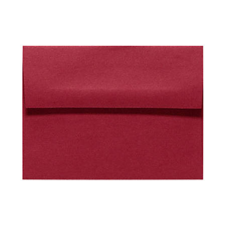 """LUX Invitation Envelopes With Peel & Press Closure, A6, 4 3/4"""" x 6 1/2"""", Garnet Red, Pack Of 50"""