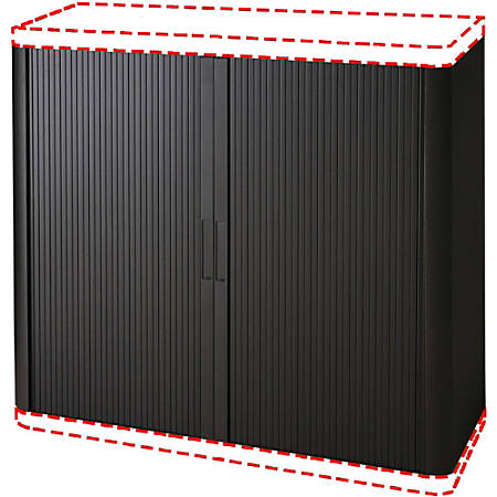 "Paperflow Door Kit with Cabinet Sides for Black USA easyOffice 41"" and 80"" Storage Cabinet - 43.3"" Width x 16.3"" Depth x 41.2"" Height - Polystyrene - Black"