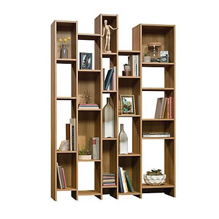 """Sauder® Harvey Park 72""""H Wall Bookcase, Pale Oak"""
