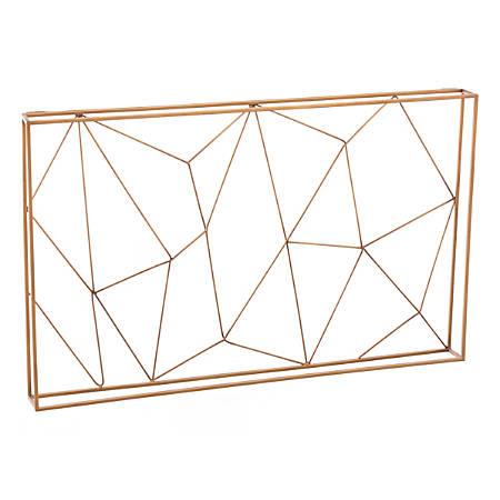 "Zuo Modern Web Wall Organizer, 19 3/4""H x 31 1/2""W x 2 5/8""D, Antique"