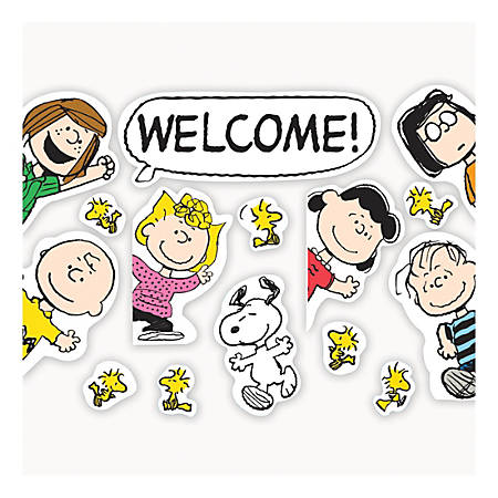 Eureka Welcome Go-Arounds® Accents, Peanuts®, Multicolor, Pre-K - Grade 2, Pack Of 15