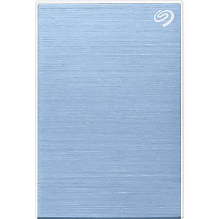 Seagate Backup Plus Slim STHN2000402 2 TB Portable Hard Drive - External - Light Blue - USB 3.0 Type C - 2 Year Warranty