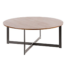 Lumisource Cosmopolitan Industrial Coffee Table Round