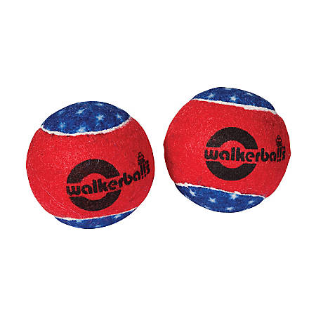 Walkerballs® Walker Tennis Ball Glides, Patriotic, Pack Of 2