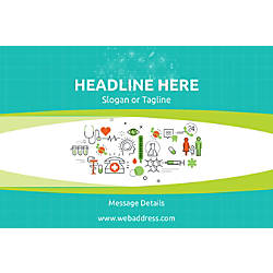 Custom Poster Healthcare Icons Horizontal