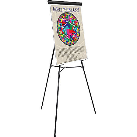 "MasterVision 3-leg Display Easel - 45 lb Load Capacity - 69"" Height x 28.5"" Width x 34"" Depth - Metal, Aluminum, Plastic, Rubber - Black"