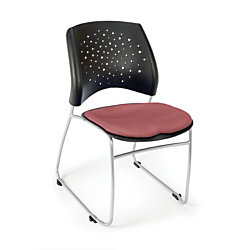OFM Stars And Moon Stack Chairs, Coral Pink, Set Of 4